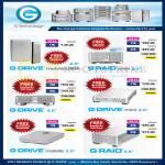 G Technology External Storage, Drive Mobile USB, Raid Mini 1TB 2TB 4TB 8TB