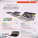 Notebooks Vaio Duo 13, Fit 15E, SVD13218PG, SVD13215CG, SVF15329CG
