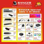 Systems Tech Ranger Accessories Wireless Keyboard, Mouse, Headset, Portable Hybrid Mini Speaker