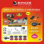 Systems Tech Ranger Audio 2-Way Splitter, S380 Headset