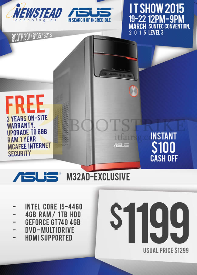 IT SHOW 2015 price list image brochure of ASUS Newstead M32AD Desktop PC