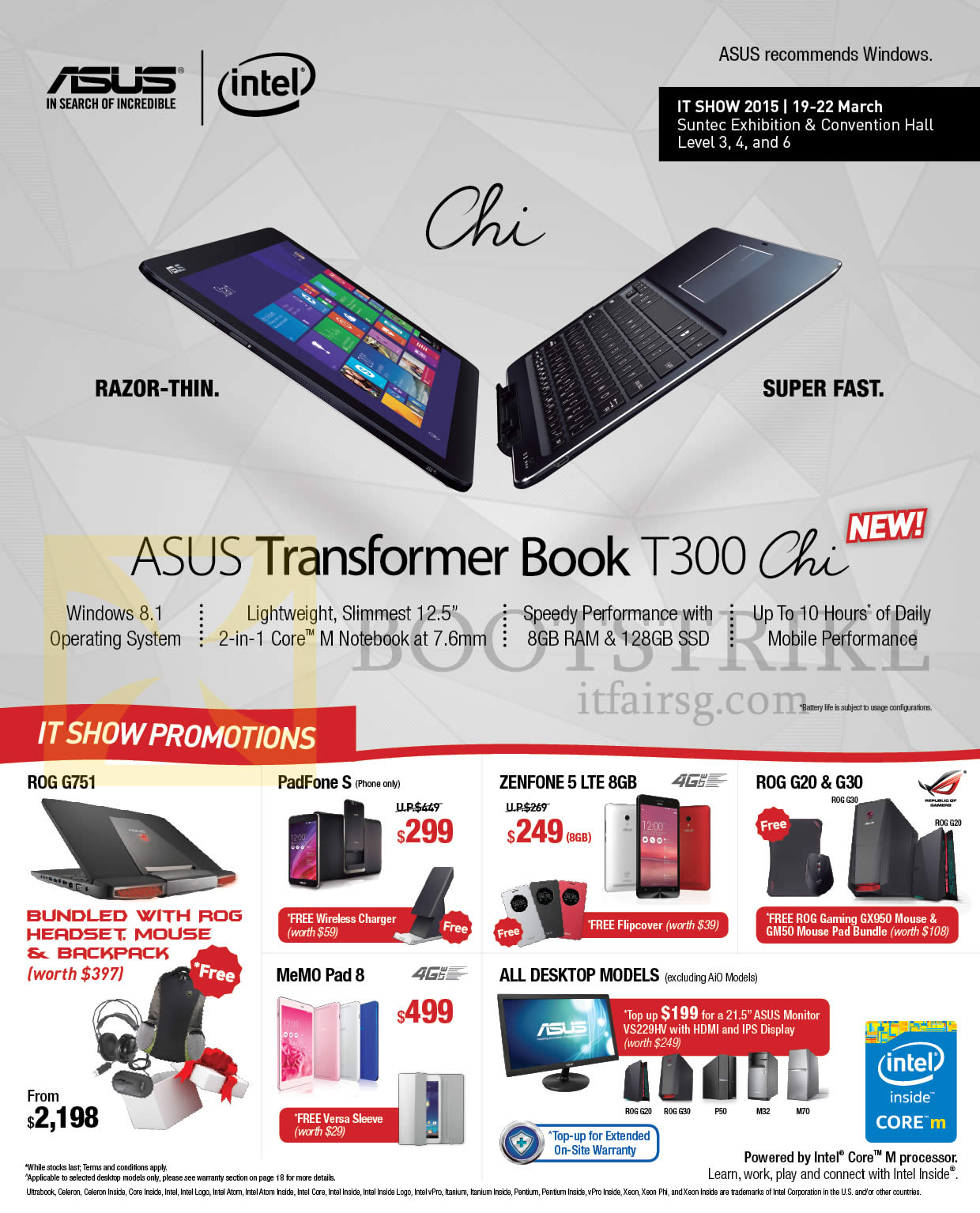 IT SHOW 2015 price list image brochure of ASUS Notebooks, Mobile Phones, Tablets, Desktop PCs