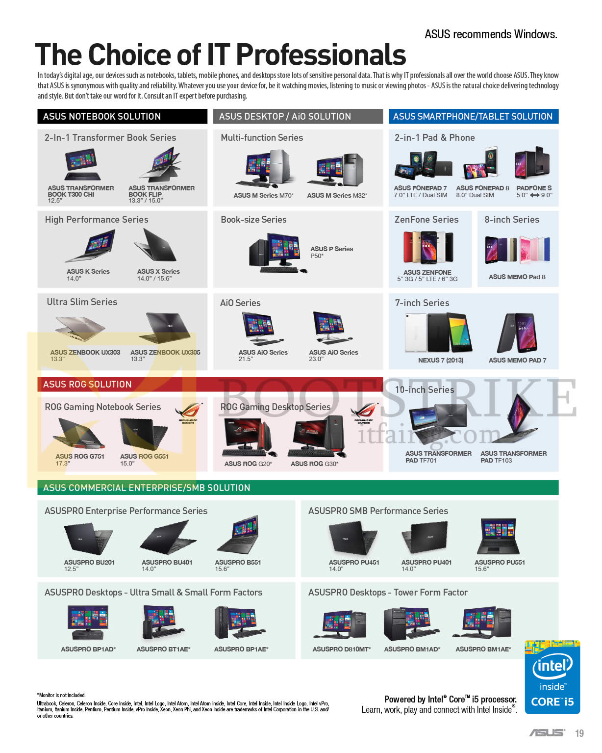 how to find prices on asus products