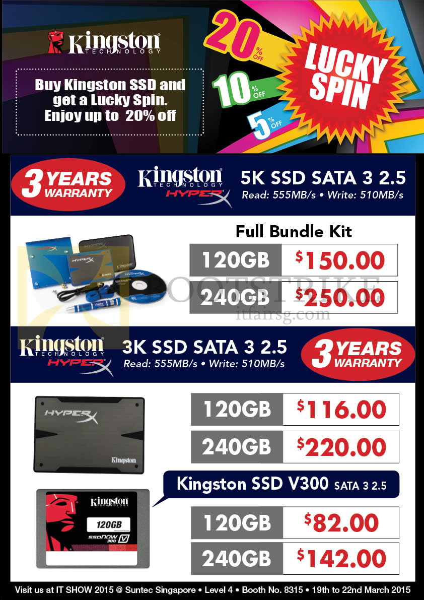Convergent Kingston Ssd Sata 3 25 120gb 240gb V300 Iii It Show 2015 Price List Image Brochure Of