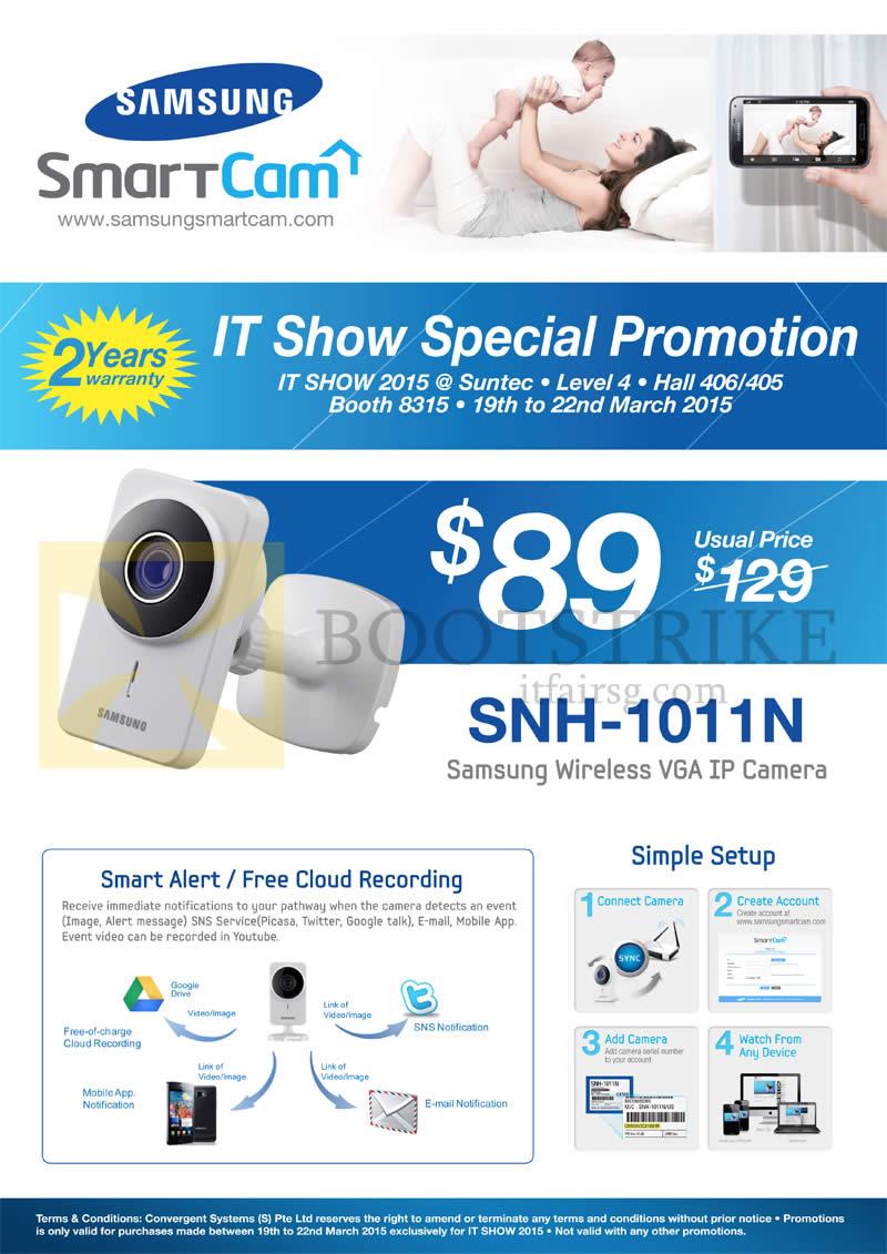 IT SHOW 2015 price list image brochure of Convergent Samsung SmartCam SNH-1011N