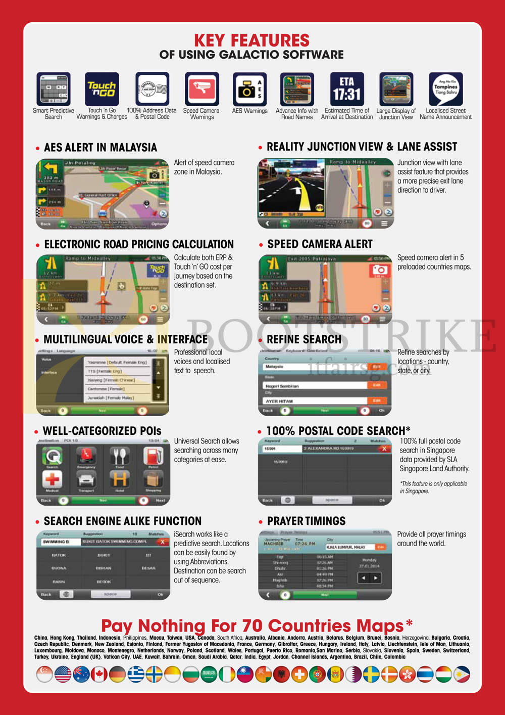 IT SHOW 2015 price list image brochure of Maka GPS Marbella Galactio Software Features
