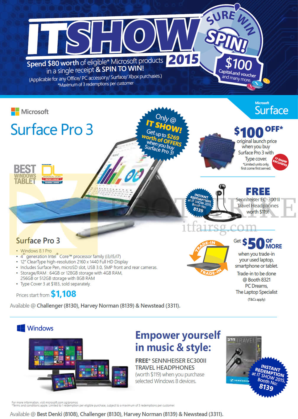 microsoft tablet surface pro 3 it show 2015 price list brochure it show 2015 price list image brochure of microsoft tablet surface pro 3