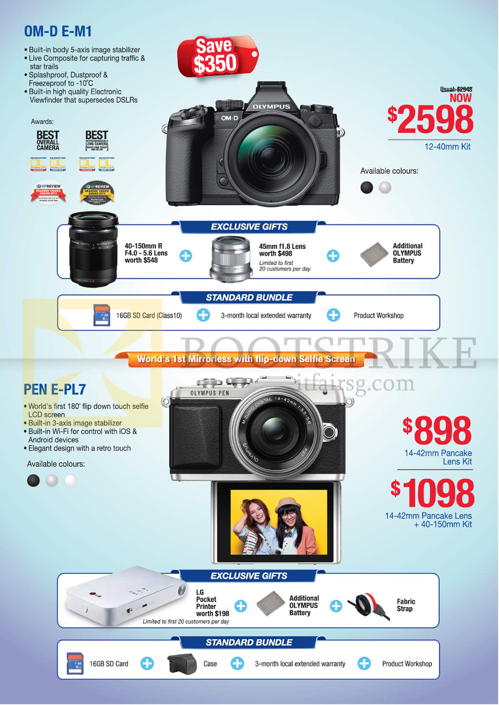 Olympus Digital Cameras OM-D E-M1, Pen E-PL7