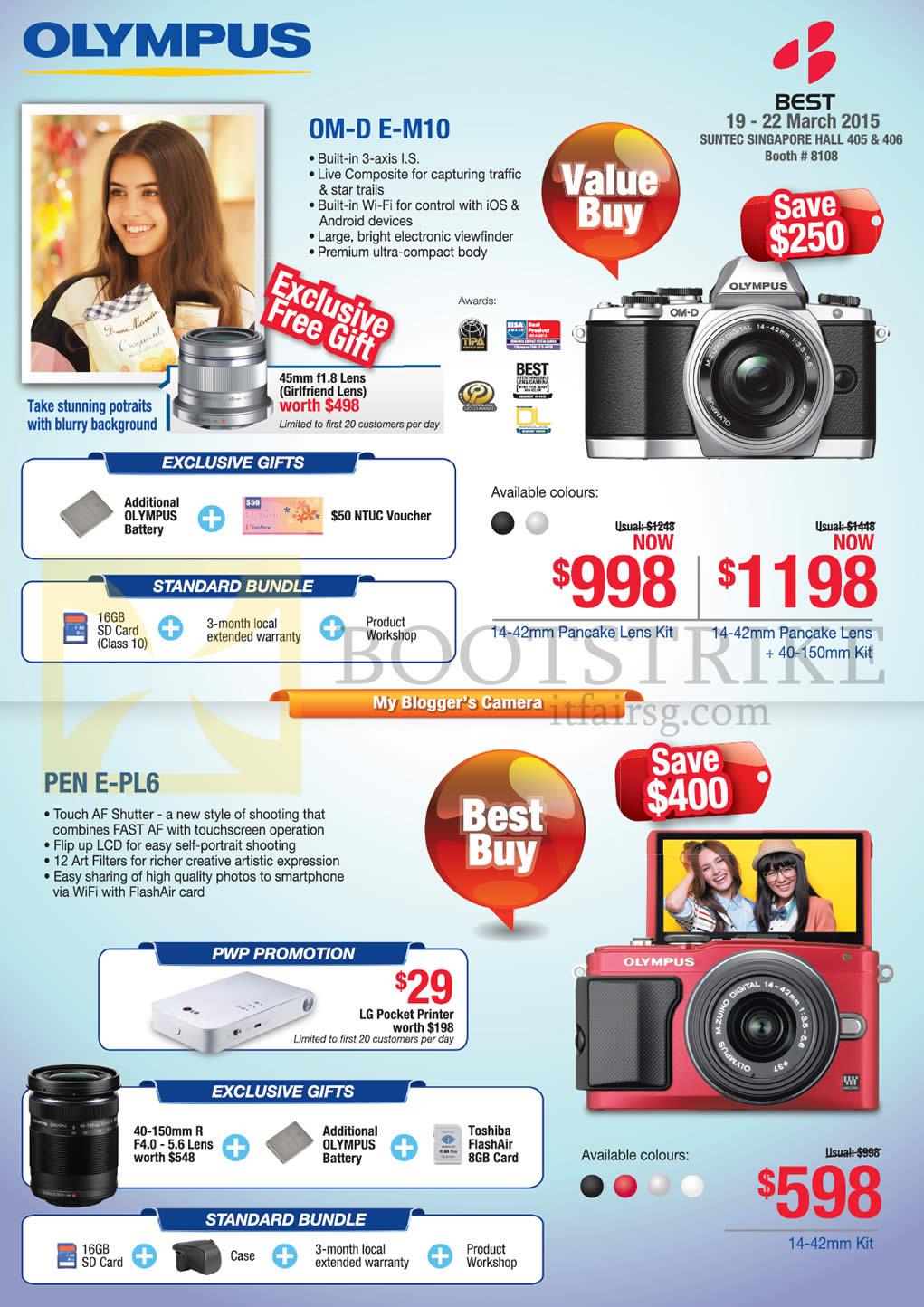 Olympus Digital Cameras OM-D E-M10, Pen E-PL6