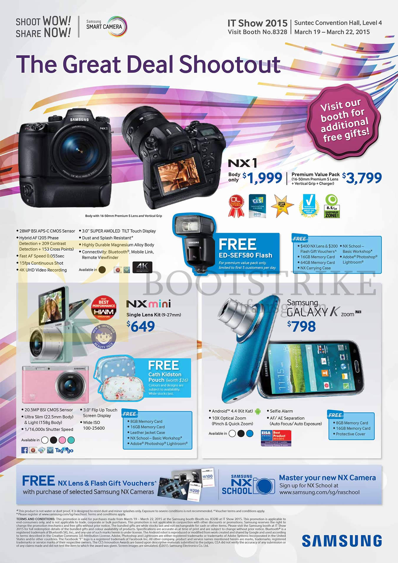 Samsung Digital Cameras NX1, NX Mini, Galaxy K Zoom