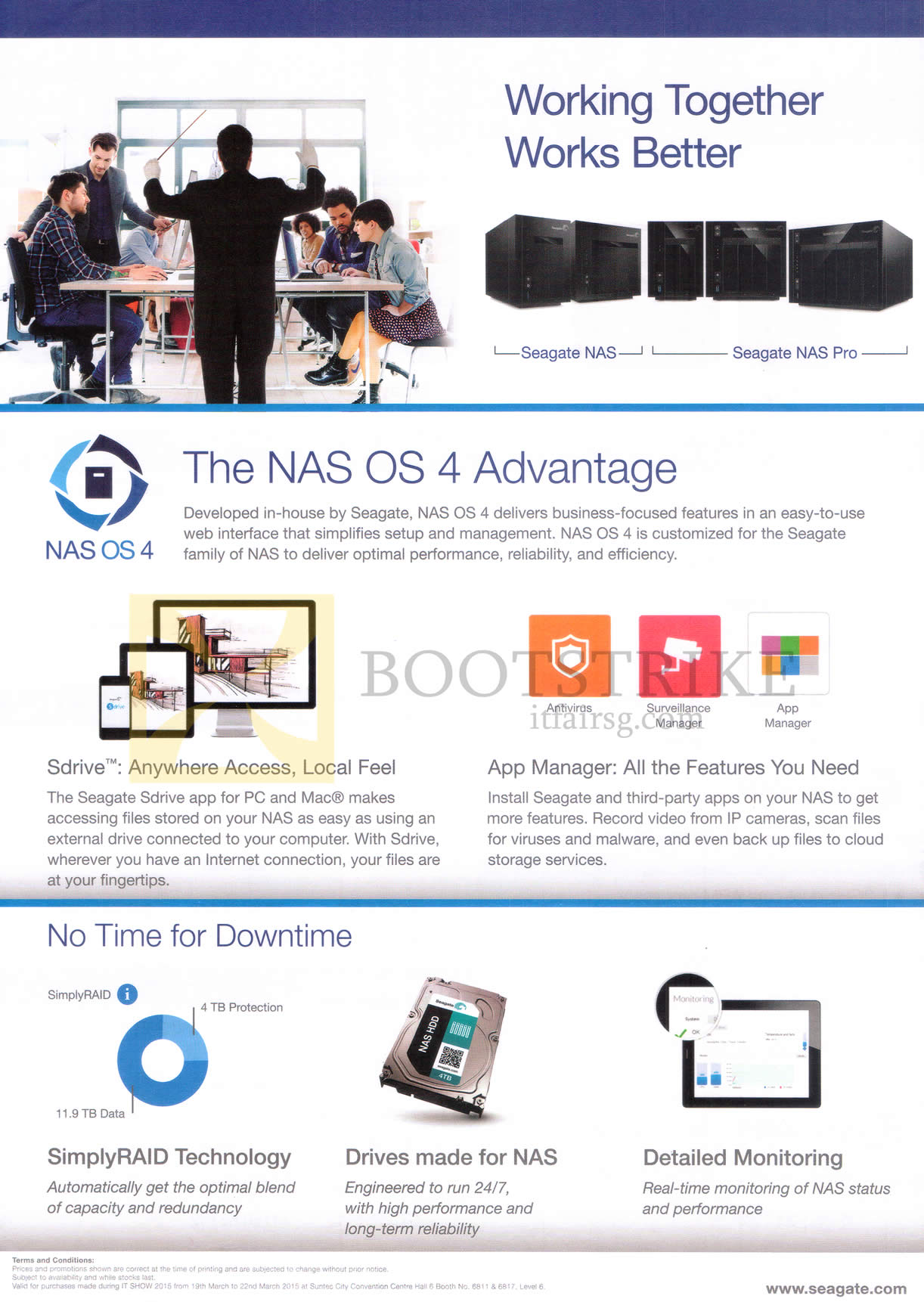 IT SHOW 2015 price list image brochure of Seagate NAS OS 4 Features