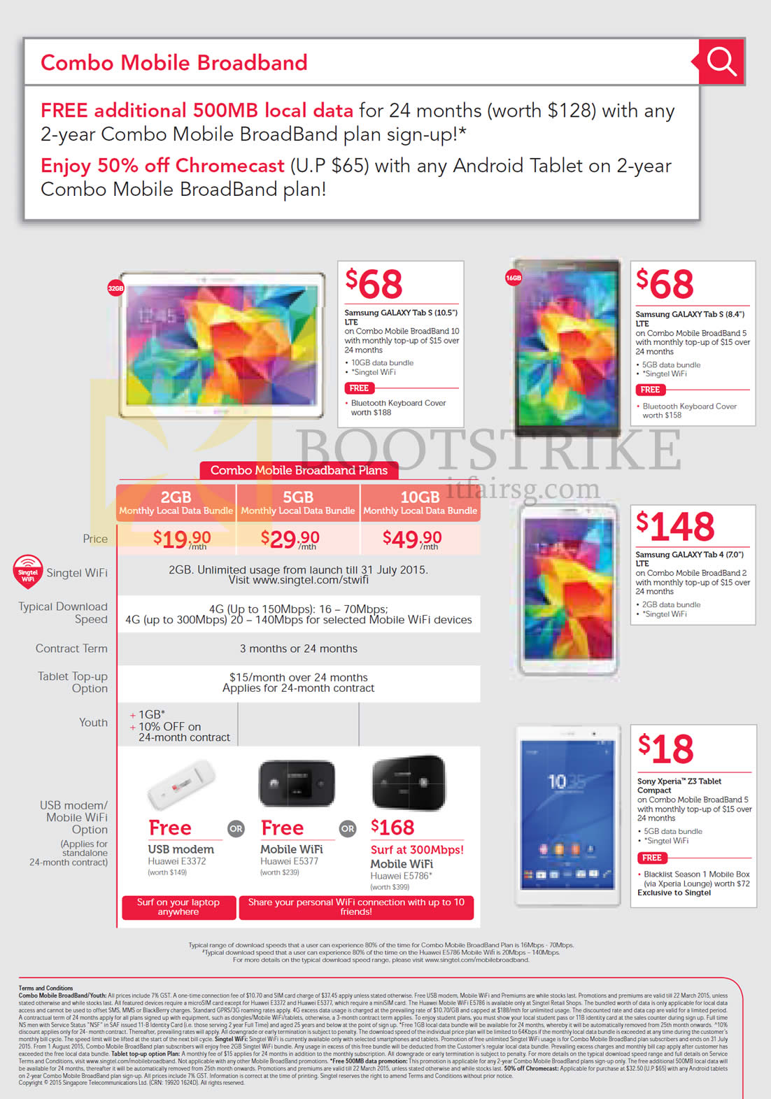 Singtel Mobile Broadband, Free Additional 500MB Local Data