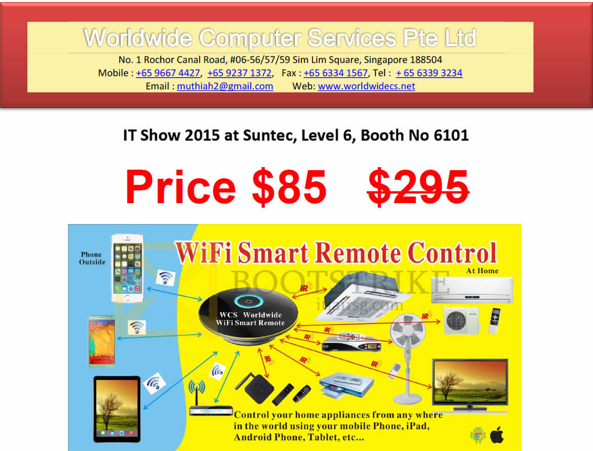 IT SHOW 2015 price list image brochure of Worldwide Computer Services Wifi Smart Remote Control