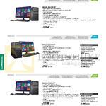 Desktop PCs D810MT, BM1AD, BM1AE, D810MT-i54570019F, BM1AD-G3420665F, I34150666F, I54590667F, BM1AE-i54590187F, I74790188F