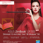 Notebook Zenbook UX305 Features