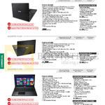 Notebooks Asuspro PU451, PU401, PU551, PU451LD-W0085G, W0102G, W0101G, W0126G, W0125G, PU551LD-X0090G, CN035G, CN034G