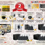 ACTi Foscam Business POE WiFi Camera Home, Cube Dome Bullet Hemispheric Superzoom