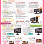 Desktop PCs, Monitors, Aspire XC-605, Predator G3-605, 4K UHD CB280HK, XB280HK, G227HQL, G277HL, T232HL