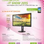 Acer Monitors UHD 4K Nvidia G-Sync CB280HK, XB280HK