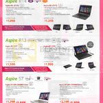 Notebooks Aspire R14 R13 S7 R3-471TG, R7-371T, S7-393-55208G12ews, 75508G25ews
