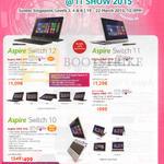 Notebooks Aspire Switch SW5-271, 171P, 171, 012