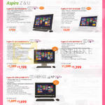 Notebooks Aspire Z1-621, Z1-611, Z3-615, U5-620