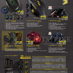 Mouse, Mouse Mats, Alien IV G9X, Aliencraft IV G17, G11, II G13, Aquila X Series, X5