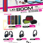Logitech Ultimate Ears Speakers, Headphone, Earphones, UE Boom, UE Mini Book, UE6000, UE9000, UE4000, UE900. UE350vm