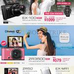 Digital Cameras Exilim, EX-100, ZR3500, ZR50, EX-MR1