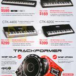 Casio Pianos Cristofori CDP-130, CTK-1150, 4400, 6200, Trackformer XW-DJIm PDI DJ Controller