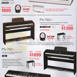 Casio Pianos PX-150, PX-760, PX-780, PX-350