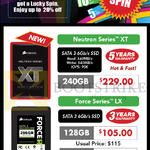 Corsair SSD Neutron Series XT, Force Series LX 128GB, 256GB, 240GB