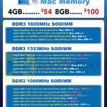 Crucial DDR3 Mac Memory 4GB, 8GB