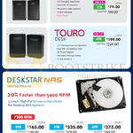 HGST Deskstar NAS Internal Drive Kit, External Storage, Touro Mobile, Desk, Deskstar NAS 500GB, 1TB, 3TB, 4TB, 6TB