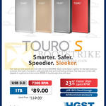 HGST Touro S Hard Disk External Storage Drive 1TB