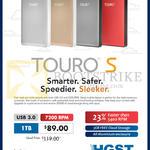 HGST Touro S Hard Disk External Storage Drive 1TB