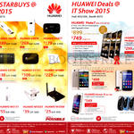 Huawei Routers, Mobile Phones, Mate7, Mediapad X1, G7, Honor 3C Lite, Honor 6, TalkBand B1