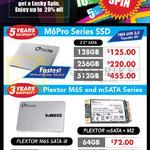 Plextor SSD M6Pro Series, M6S, MSata Series, M6S Sata III, MSata, M2, 64GB, 128GB, 256GB, 512GB