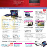 Notebooks Inspiron 11 3000, 14 5000, 15 5000, 13 7000 Series