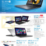 Notebooks Inspiron 15 7000 Series, XPS 11, XPS 15, XPS 12