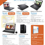 Notebooks, Desktop PC, Inspiron 14, 15, 20 3000 Series