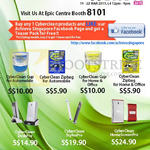 EpiCentre CyberClean Cup, Zipbag, DeskPro, StylusPro, HomeScreen Pro
