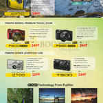(No Prices) Digital Cameras Finepix F800. F850, JZ700, T500