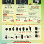 Fujifilm (No Prices) Digital Cameras, Lenses X30, X100T, XQ1, XQ2