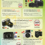 Fujifilm (No Prices) Digital Cameras X-T1, X-E2, X-Pro 1, X-A2, X-M1