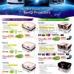 BenQ Projectors MS524, MX525, MW526, W1070Plus, W1080STPlus, W7000