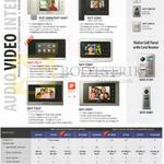 Audio Video Intercom SHT-3605, 3006, 3305, 7017, 7507, 7327, 3507, 5181, 5081, CN610, CP611, CN510, CP610