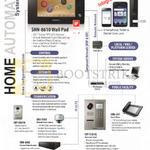 Door Locks Wall Pad, CCTV Camera, Guard Phone, Voice Recorder, SHN-8610, 587, SHT-CN610, 5181XL, SRN-4000, SNV-5080