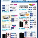 HGST G-Technology Mac External Storage, NAS, G Drive USB, Pro, EV, Studio, Studio XL 2TB 4TB 6TB 8TB 12TB 16TB 24TB 32TB 40TB 48TB 64TB