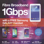1Gbps Free Samsung Galaxy Handset, Lenovo A606, Samsung A5, Galaxy Note 4
